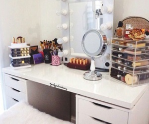 Brushes, makeup, and Tables image