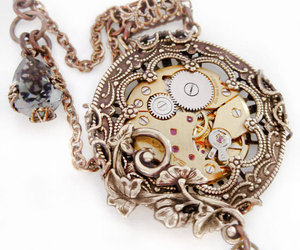 necklace, steampunk, and vintage image