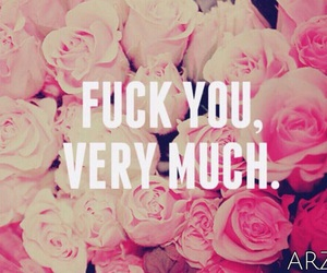 flowers, fuck, and pinky image