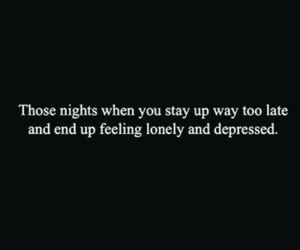 quote, depressed, and lonely image