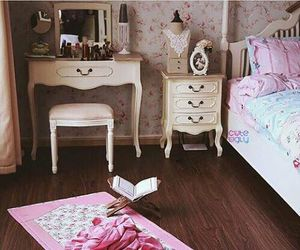 pink, beautiful, and room image