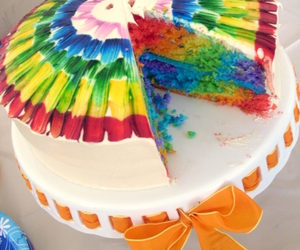 cake and rainbow image