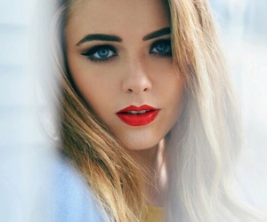 red, beauty, and blonde image