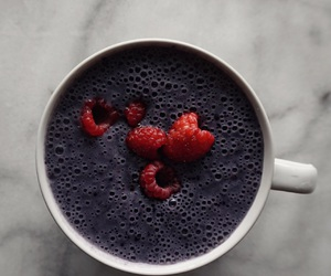 blueberries, cup, and drink image