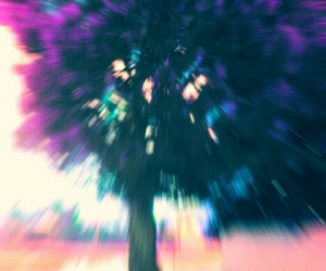 tree, psychedelic, and colors image