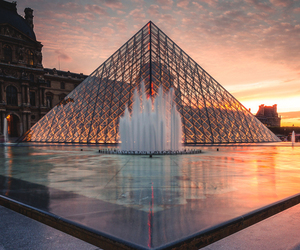 paris, louvre, and travel image