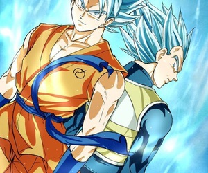 vegeta, goku, and dbz image