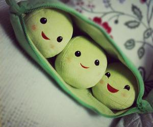 cute, peas, and green image