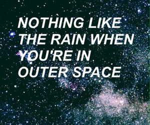 background, Lyrics, and outer space image