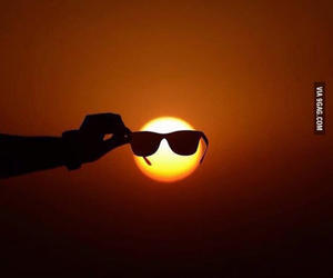 sun, sunglasses, and cool image