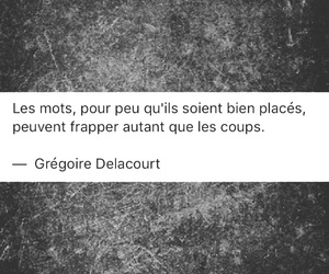 french, mots, and quote image