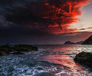 sky, nature, and sea image