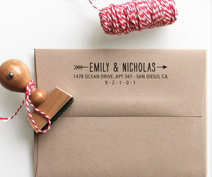 business card, personalized, and rubber stamp image