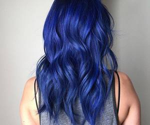 colored hair, blue hair, and cabelos coloridos image