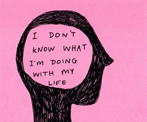 pink, quotes, and life image