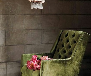 armchair, decor, and green image