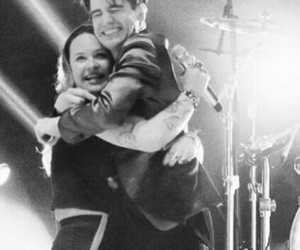 brendon urie, hug, and live image