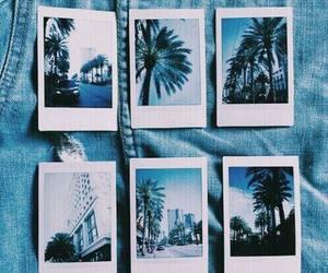 polaroid, blue, and photo image
