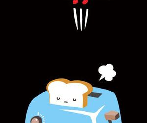 bread, funny, and toast image