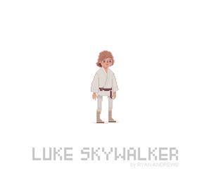 LUke, pixel, and Skywalker image