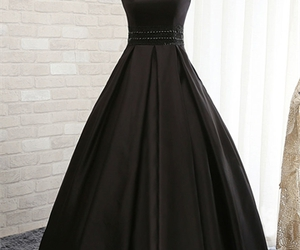 dress, black, and woman image
