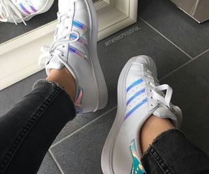 girl, adidas, and shoes image