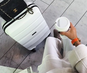 chanel, travel, and bag image