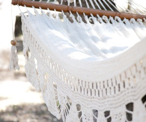 summer, white, and hammock image