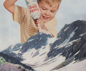 mountains, boy, and art image
