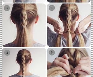 braid, girls, and diy image