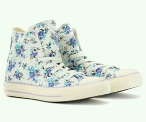 converse, flowers, and all star image