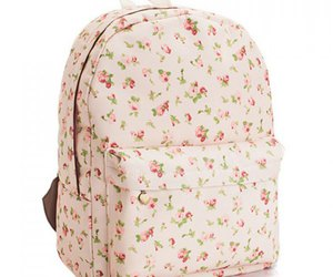 backpack and floral image