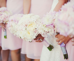 flowers, bridesmaid, and lovely image