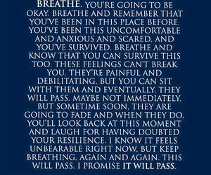 quote, breathe, and motivation image