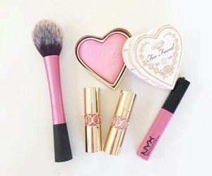 pink, blush, and lipstick image