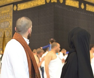 couple, hijab, and islam image