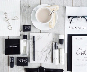 nars, coffee, and makeup image