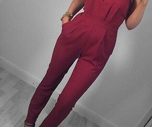 red, style, and outfit image