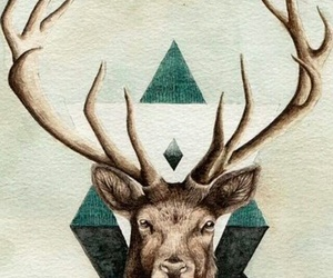 hipster, reindeer, and old image