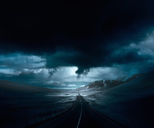 road, sky, and dark image