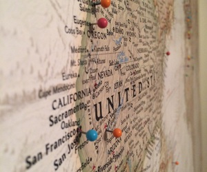 map, pins, and travel image