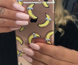 nails, banana, and case image