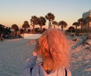 beach, hair, and tumblr image