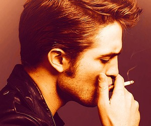 robert pattinson, smoke, and black and white image