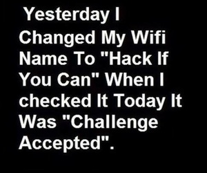 funny, wifi, and hack image