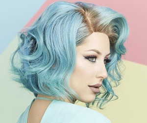 beauty, blue, and coloured hair image