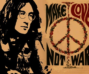peace, john lennon, and quote image