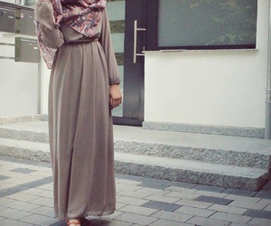 hijab, fashion, and dress image
