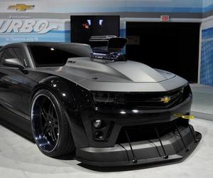 black, camaro, and chevrolet image