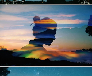 colours, edit, and sunset image
